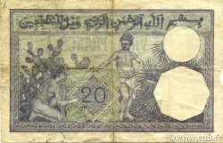 20 Francs type 1912 TUNISIE  1938 P.06b TTB