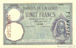 20 Francs TUNISIE  1924 P.06s SPL+