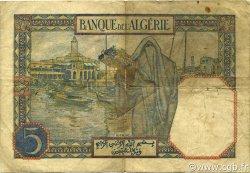 5 Francs TUNISIE  1925 P.08a TB+