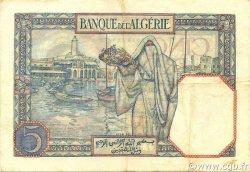 5 Francs type 1924 TUNISIE  1933 P.08a TTB+