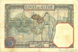5 Francs type 1924 TUNISIE  1939 P.08b TTB+