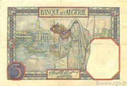 5 Francs type 1924 TUNISIE  1939 P.08b TTB