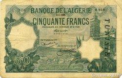 50 Francs type 1912 TUNISIE  1929 P.09 TB