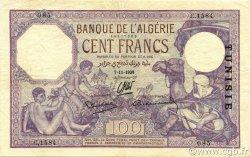 100 Francs type 1920 TUNISIE  1938 P.10c TTB