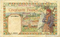 50 Francs TUNISIE  1942 P.12b pr.TTB