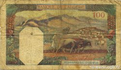 100 Francs type 1938 filigrane tête TUNISIE  1941 P.13a B+