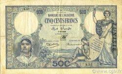 500 Francs type 1926 TUNISIE  1938 P.14 TTB