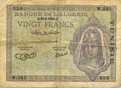 20 Francs type 1943 TUNISIE  1944 P.17 pr.TTB