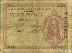 20 Francs type 1943 TUNISIE  1944 P.18 B+