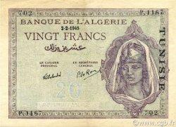 20 Francs type 1943 TUNISIE  1945 P.18 SUP+