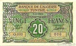 20 Francs type 1946 TUNISIE  1946 P.22s NEUF