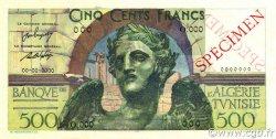 500 Francs TUNISIE  1946 P.25s SPL
