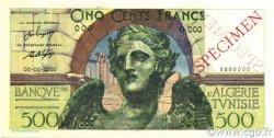 500 Francs type 1946 victoire ailée TUNISIE  1946 P.25s pr.NEUF