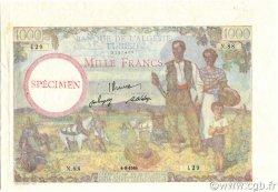 1000 Francs type 1940 modifié TUNISIE  1946 P.26s SPL