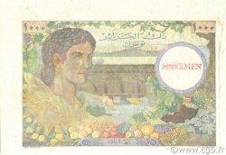 1000 Francs TUNISIE  1946 P.26s SPL