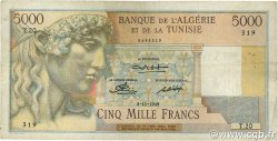 5000 Francs TUNISIE  1949 P.27 TTB