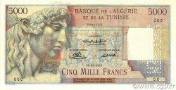 5000 Francs TUNISIE  1946 P.27s pr.NEUF