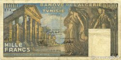1000 Francs type 1950 temple romain TUNISIE  1950 P.29a TB à TTB