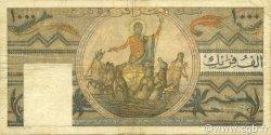 1000 Francs type 1950 temple romain TUNISIE  1950 P.29a TTB