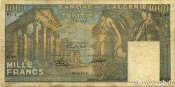 1000 Francs type 1950 temple romain TUNISIE  1950 P.29a TB