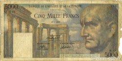 5000 Francs TUNISIE  1950 P.30a B
