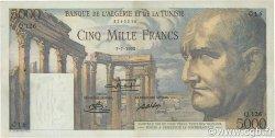 5000 Francs type 1950 Vespasien TUNISIE  1950 P.30a TTB+