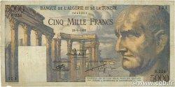 5000 Francs TUNISIE  1952 P.30b TTB