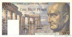 5000 Francs TUNISIE  1950 P.30s pr.NEUF