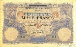 1000 Francs sur 100 Francs type 1892 TUNISIE  1943 P.31 TTB+