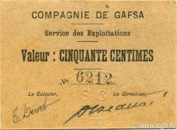50 Centimes TUNISIE  1916 P.-- SPL