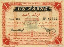 1 Franc TUNISIE  1918 P.33b SUP