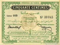 50 Centimes TUNISIE  1918 P.35 pr.NEUF