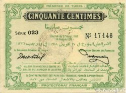 50 Centimes TUNISIE  1918 P.35 SUP