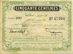 50 Centimes TUNISIE  1918 P.39 TTB+