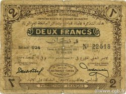 2 Francs TUNISIE  1918 P.41 B+