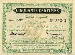 50 Centimes TUNISIE  1918 P.42 pr.NEUF