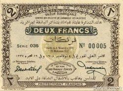 2 Francs TUNISIE  1918 P.44 pr.NEUF