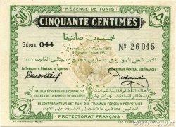 50 Centimes TUNISIE  1919 P.45a SPL