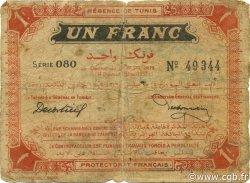 1 Franc TUNISIE  1919 P.46b B