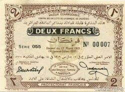 2 Francs TUNISIE  1919 P.47b pr.SPL