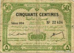 50 Centimes TUNISIE  1920 P.48 pr.TB