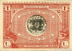 1 Franc TUNISIE  1920 P.49 TTB+