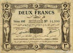 2 Francs TUNISIE  1921 P.53 TTB