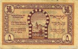 50 Centimes TUNISIE  1943 P.54 TTB+