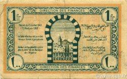 1 Franc TUNISIE  1943 P.55 TTB