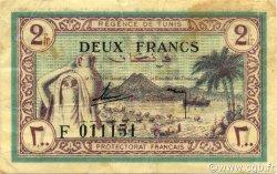 2 Francs TUNISIE  1943 P.56 TTB