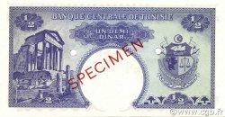 1/2 Dinar TUNISIE  1958 P.57s pr.NEUF