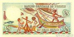 1/2 Dinar TUNISIE  1965 P.62 pr.NEUF
