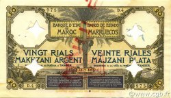 20 Rials Makhzani MAROC  1910 P.02 TTB