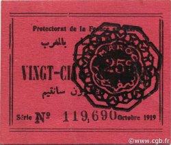 25 Centimes MAROC  1919 P.04a SUP+